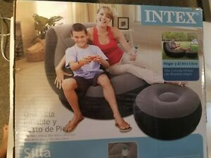 intex ultra lounge chair and ottoman bedroom thing 68564e inflatable set ebay image is loading amp