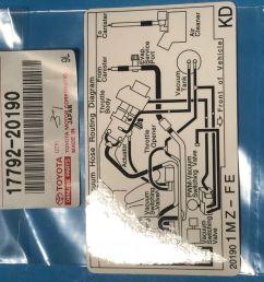 lexus toyota oem 00 01 es300 labels vacuum hose diagram 1779220190 [ 1600 x 1200 Pixel ]