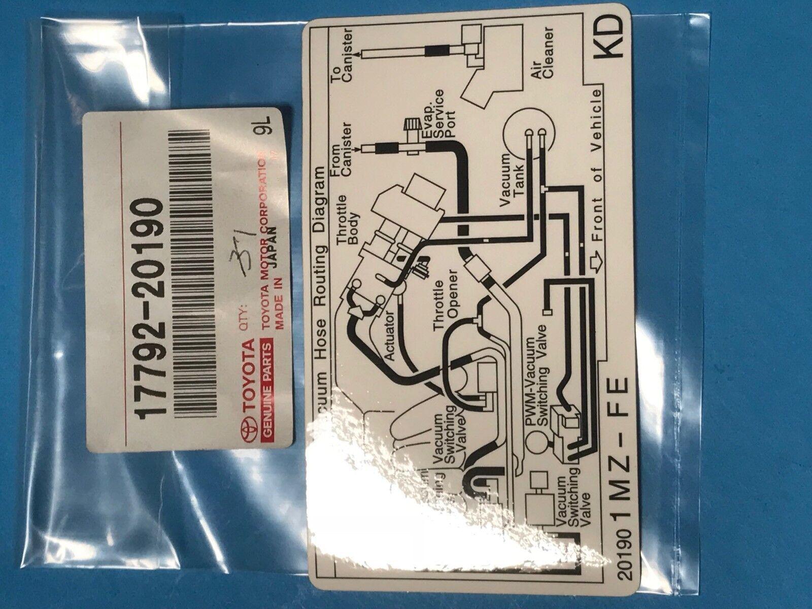 hight resolution of lexus toyota oem 00 01 es300 labels vacuum hose diagram 1779220190