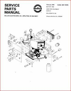 MILLER MILLERMATIC 10A SERVICE / PARTS MANUAL EFF WITH