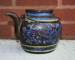 19th Century Chinese Enamelled Yixing Teapot