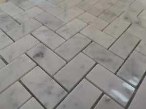 details about marble mosaics uk herringbone tile italian carrara marble full tile sample