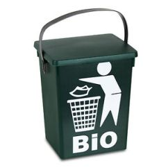 Small Recycling Bins For Kitchen Hideaway Table 5 Litre Top Food Bin Recycle Waste Image Is Loading