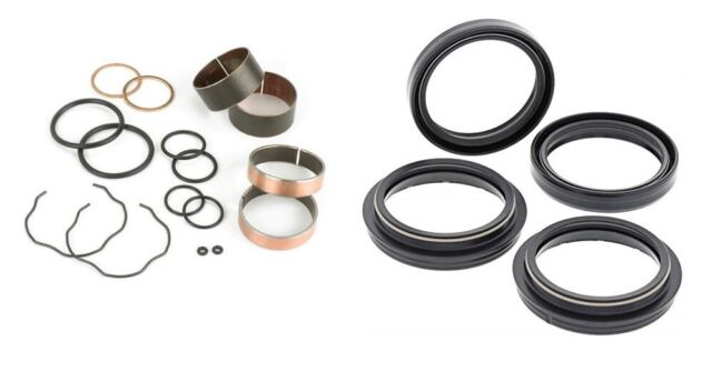 FORK BUSHING DUST OIL SEAL REBUILD KIT KAWASAKI KX450F