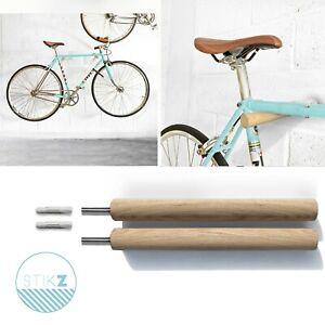 details about stikz wall mounted bike rack storage wooden bike hook multiple colours