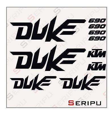 X10 ADHESIVOS KIT KTM DUKE 690-200-125 RECORTE ENDURO
