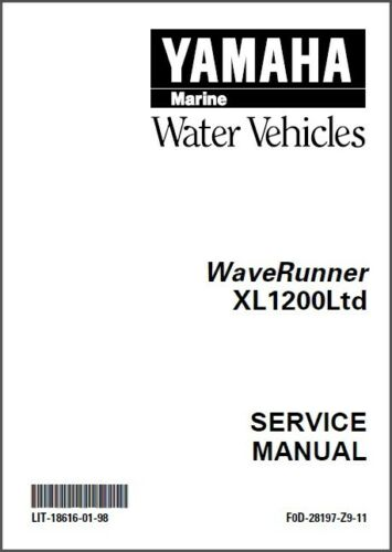 XL 1200 Ltd 1999-2000 Yamaha XL1200LTD Waverunner Service