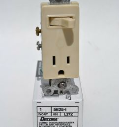 leviton 5625 i ivory combination decora single pole toggle switch receptacle for sale online ebay [ 1071 x 1600 Pixel ]