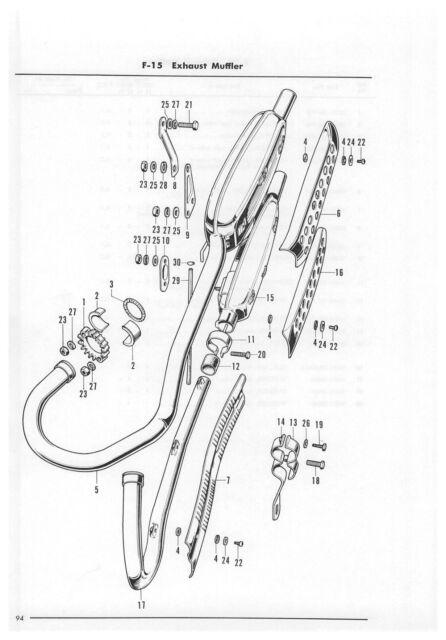 HONDA Parts Manual CB350 CL350 CB250 CL250 1970