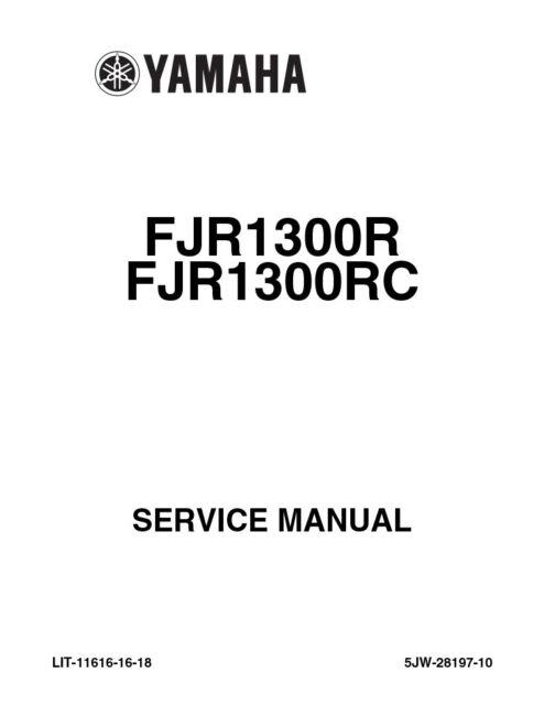 Yamaha Fjr1300 R RC 2003 Repair Service Manual Lit-11616