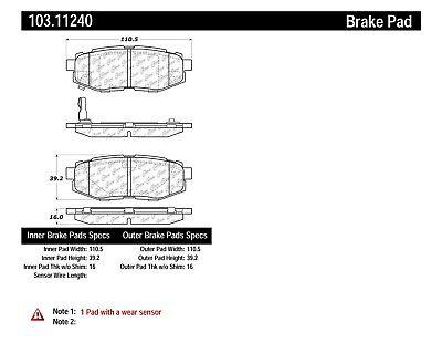 C-TEK Ceramic Brake Pads fits 2006-2008 Subaru B9 Tribeca