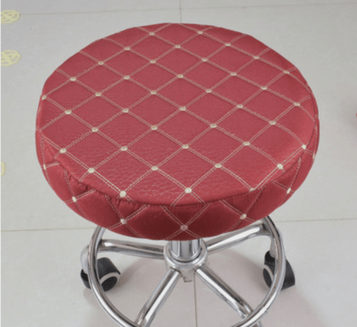 chair and stool covers dining table set sale 2pcs 14 bar round seat cover cushions sleeve wine red dental