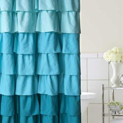 shower curtains home classics ruffle ombre fabric shower curtain home garden