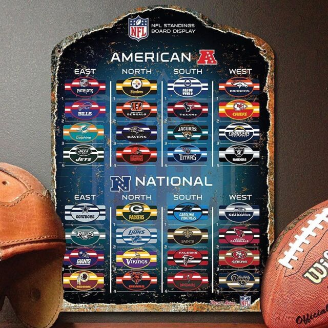 official nfl magnetic standings