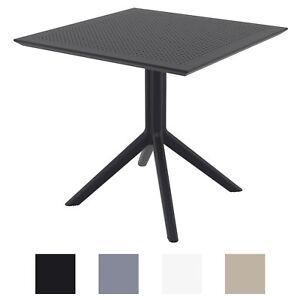 details sur table de jardin sky 80x80 cm table de terrasse durable en plastique table balcon