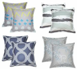 details about aiking home set of 2 26x26 inches cotton euro shams pillow covers