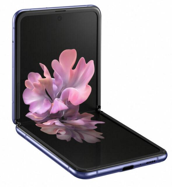 Samsung Galaxy Z Flip Sm F700f Ds 256gb Mirror Purple Unlocked Dual Sim For Sale Online Ebay