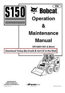 Bobcat S150 Skid Steer Loader Operation & Maint Manual SN