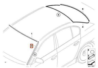 GENUINE BMW 5-Series E60 E61 03-10 Front Windshield Drips