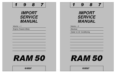 1987 Dodge Ram 50 Truck Shop Service Repair Manual Engine