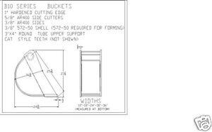 mini excavator bucket, 18