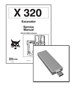 Bobcat X 320 Excavator Workshop Service Repair Manual USB