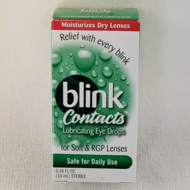 Blink Contacts Lubricating Eye Drops 0.34 Fl Oz Brand New ...