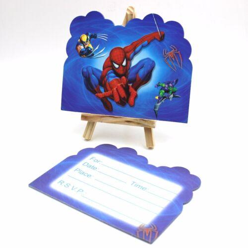 cartes de voeux papeterie spiderman theme invite invitation carte enfant fete d anniversaire 1 lot de 6 cartes uk maison becker frucht de