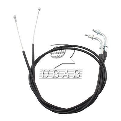 Black 110CM Throttle Cable Wire Set For Harley Davidson