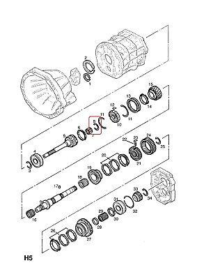 Snap Ring-Mainshaft Gear Clutch Hub 2.10mm Genuine GM
