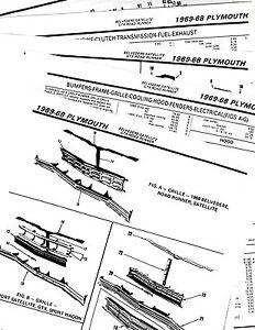 1968 1969 PLYMOUTH SATELLITE ROAD RUNNER SATELLITE BODY