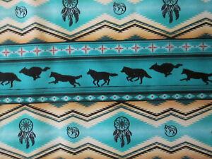 Navajo Native American Totem Wolf Dream Catcher Border