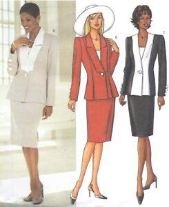Woman Suit Pattern : woman, pattern, Women's, Fitted, Pencil, Skirt, Jacket, Blazer, Sewing, Pattern, UNCUT