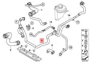 Genuine BMW E70 X5 Radiator Coolant Hose OEM 17127537109
