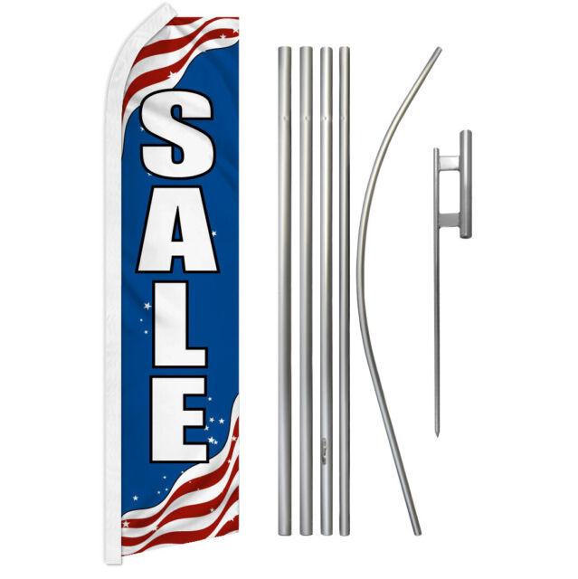 Patriotic Sale Advertising Swooper Flutter Feather Flag Kit Sale Here Sale Flag | eBay