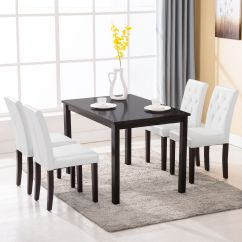 4 Kitchen Chairs Iron Chair Cushions 5 Piece Dining Table Set Room Dinette