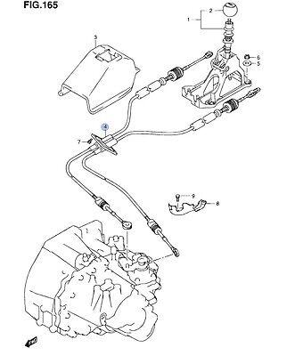 NEW Genuine Suzuki SX4 Gear Cables 1.6 1.9 2.0 DIESEL 5&6