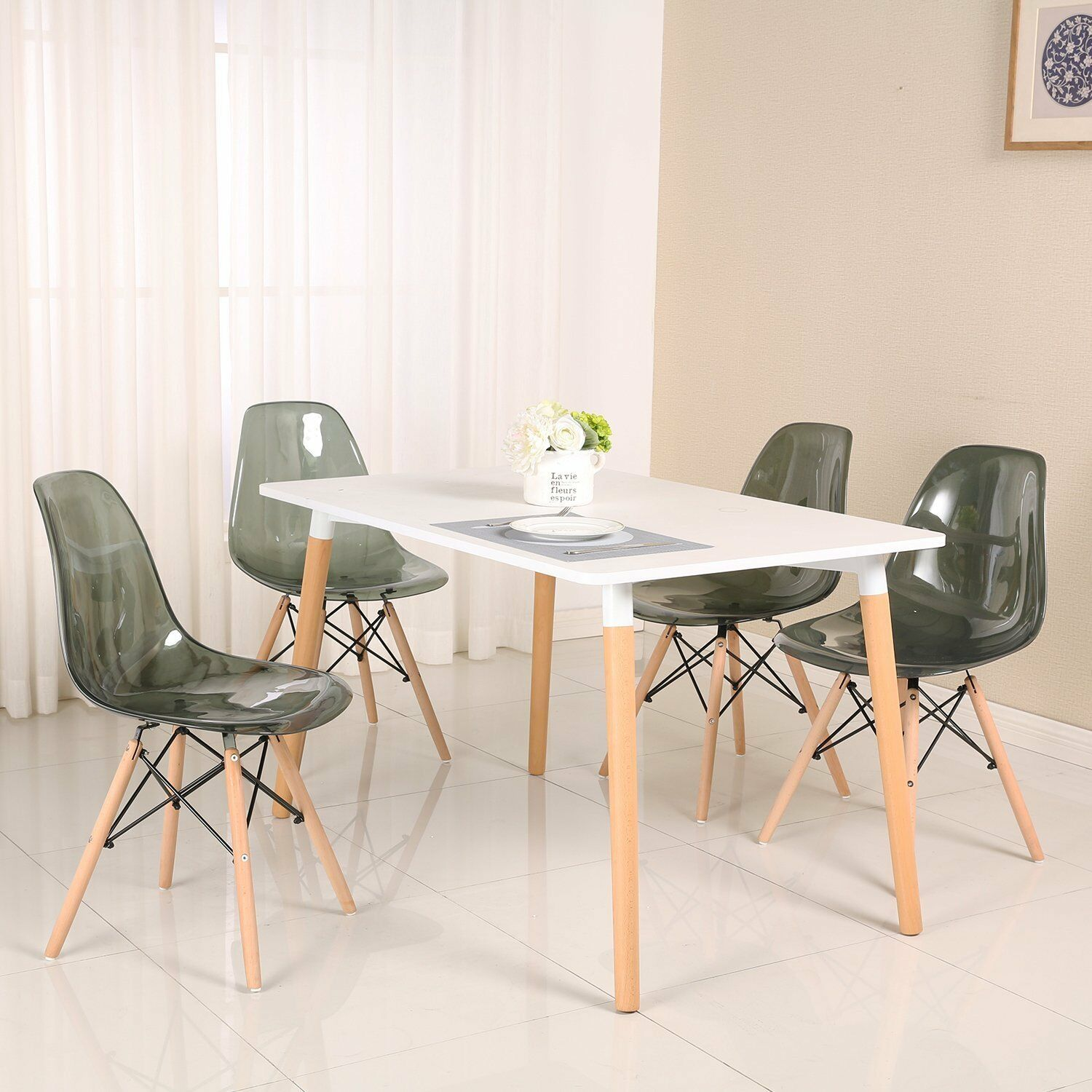 Modern Kitchen Chairs Details About Modern Plastic Dining Chair Living Room Chair Kitchen Chair Transparent Clear 4