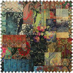 Printed Fabric Sofa Designs Rocking Reclining Modern Velvet Wonderland Patchwork Multi Coloured