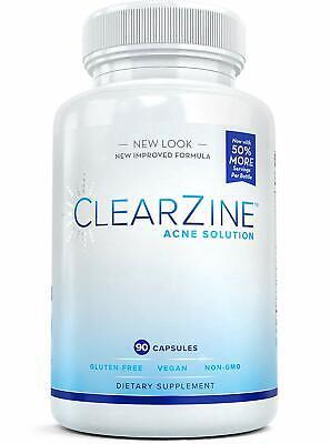 ClearZine Acne Pills - Teens & Adults Clear Skin Vitamins ...