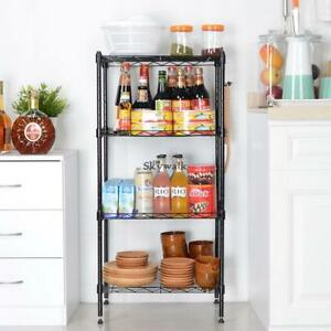 kitchen wire rack stainless steel islands shelving 2 4 tier shelf storage organizer image is loading