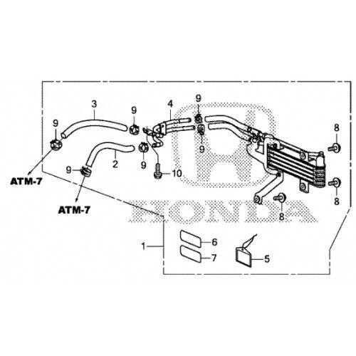2016-2018 Honda Pilot ATF Cooler Kit W/ 6 Speed Automatic
