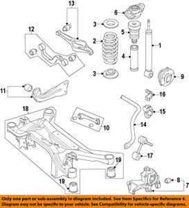 2002 vw passat exhaust system diagram 1991 toyota truck wiring knuckle 2001 free for you volkswagen oem 07 15 eos rear suspension spindle rh ebay com engine