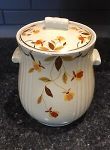 """Jewel Tea Autumn Leaf : jewel, autumn, Hall's, Superior, Jewel, Autumn, Tootsie, Cookie, Jar-1936-1939-9x7"""""""