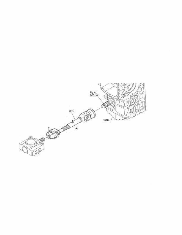 OEM Kubota Deck Driveshaft K5645-32010 RCK54-18Z S/N>11885