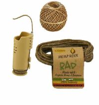 HEMP WICK LIKE I-TAL, RAW HEMPWICK NATURAL BEESWAX LIGHTER ...