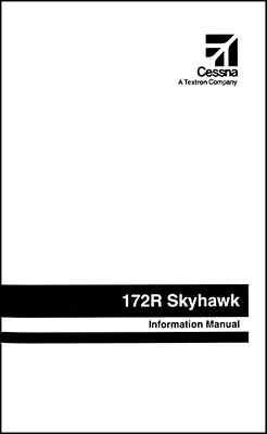 Cessna Skyhawk Airplane Information Owner's Manual (POH