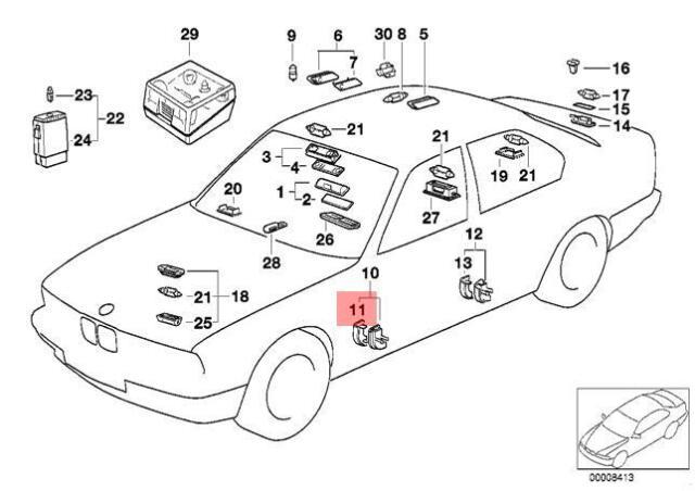Genuine LENS LEFT BMW E32 730i 730iL 735i 735iL 740i 740iL