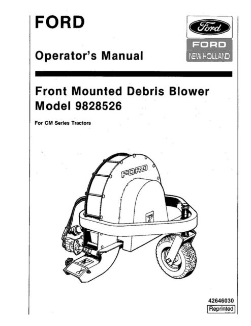 NEW HOLLAND Front Mounted Debris Blower for CM Tractors