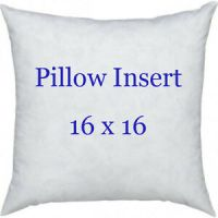 "16 X 16 Accent Pillow Form, 16"" Pillow Sham Insert, INDOOR ..."